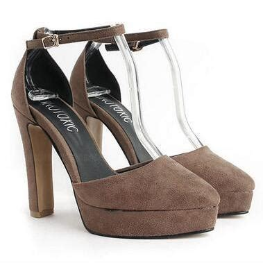Boots Block Fashion Korea 959 korean fashion simple sweet high heeled waterproof taiwan shallow word of shoes
