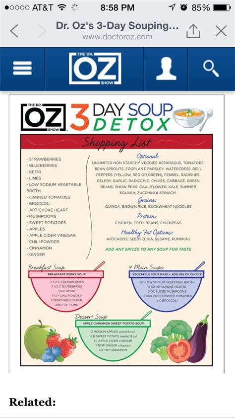 3 Day Soup Detox Plan by Dr Oz 3 Day Soup Cleanse