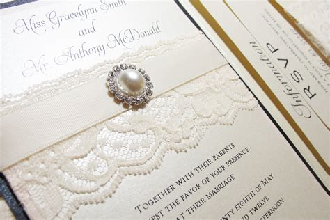 wedding invites lace wedding invitations