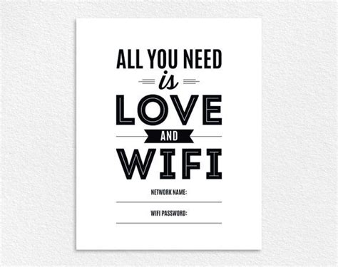 Best 20 Wifi Password Printable Ideas On Pinterest Free Wifi Poster Template