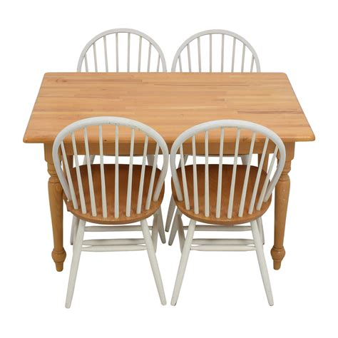butcher block kitchen table and chairs dining sets used dining sets for sale