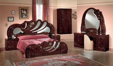 vanity bedroom furniture vanity mahogony italian classic 5 piece bedroom set
