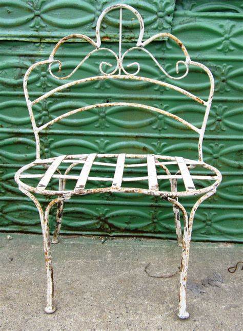 small wrought iron bench wrought iron small child s curly bench metal seating