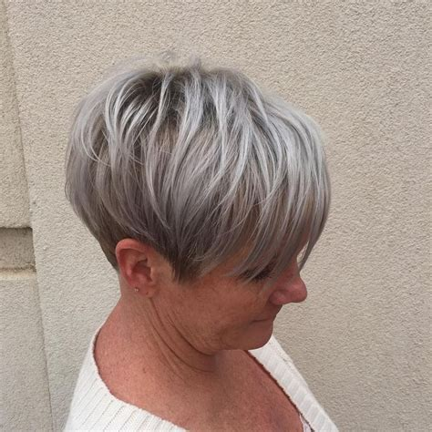 fine graycoming in of short bob hairstyles for 70 yr old pin by maggie brincheski on hair i love pinterest gray