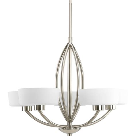 progress lighting calven collection 4 light brushed nickel bath light p3236 09wb the home depot progress lighting calven collection brushed nickel 5 light chandelier the home depot canada