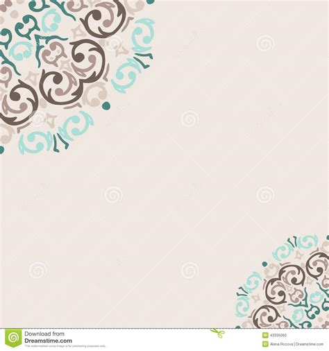 abstract oriental frame corner stock vector image 43335060