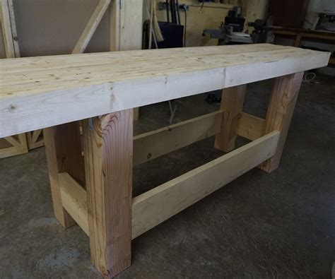 work bench wood woodworking workbench sturdy inexpensive and quick to