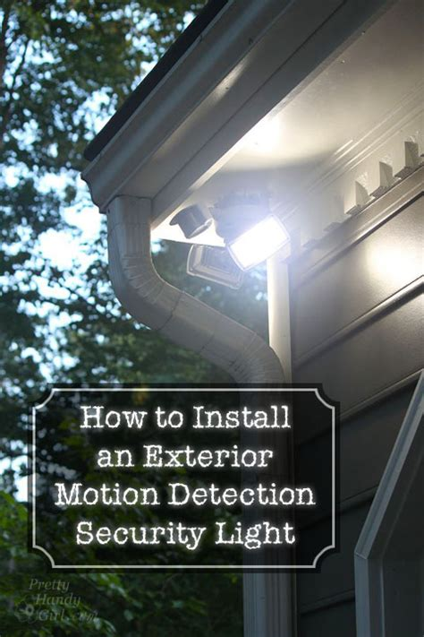 Installing An Outdoor Light How To Install An Exterior Motion Sensor Light
