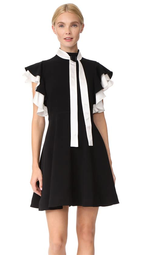 Sale Dresses 100 At Shopbop Part 2 by Shop Cinq A Sept Reina Dress In Black Ivory At Modalist