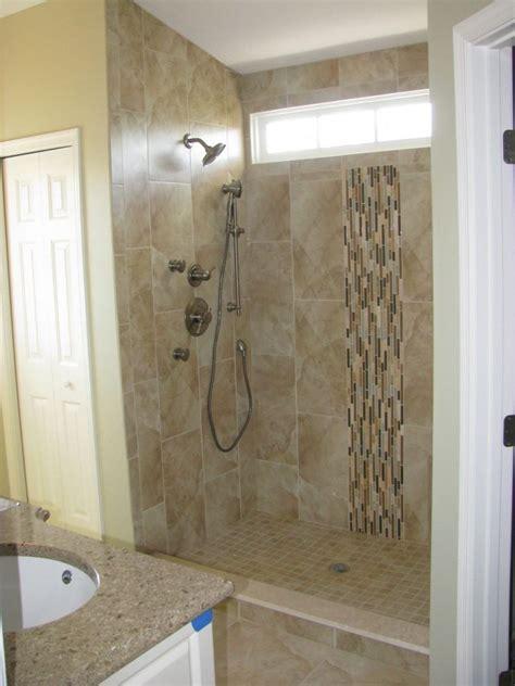 bathroom shower tile layout brown unfinished