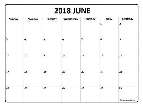 blank june 2018 printable calendar june 2018 calendar