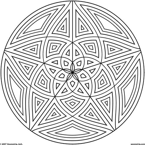 coloring pages of different designs geometric coloring pages bestofcoloring com