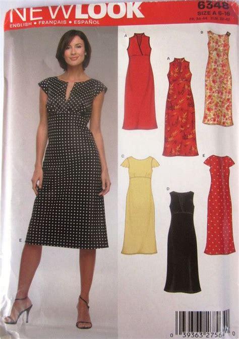free pattern empire waist dress new look 6348 womens empire waist dress pattern dress