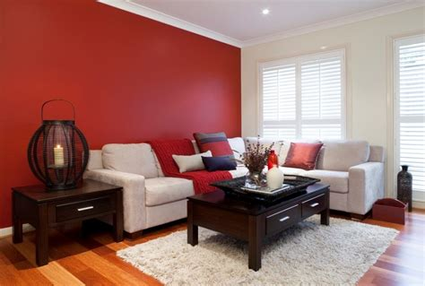 Red Living Room Walls | creative red living room designs
