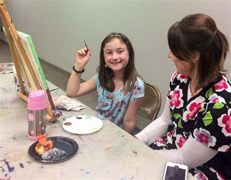 kids paint class  elaine wilson bartlesville art association