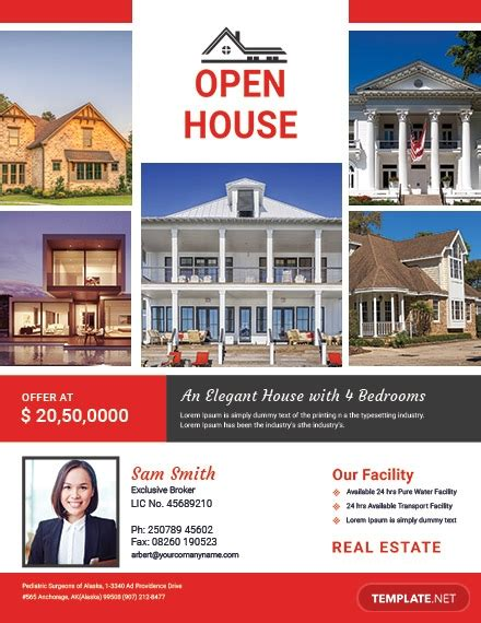 Free Broker Open House Flyer Template Download 416 Flyers In Psd Illustrator Word Publisher Free Open House Flyer Template Word
