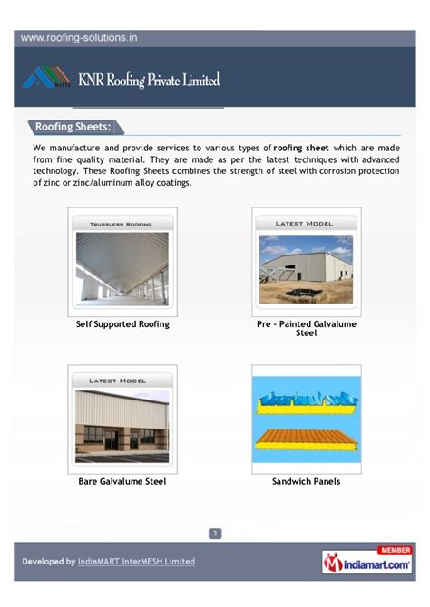 quality pattern works private limited knr roofing private limited tumkur roofing sheets