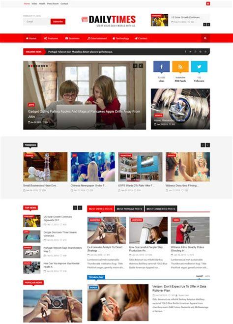 30 Best News Magazine Joomla Templates Free Premium Freshdesignweb News Magazine Template
