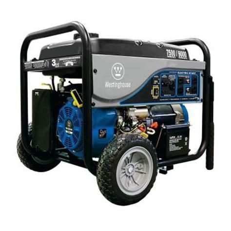 westinghouse 7 500 watt gasoline powered electric start
