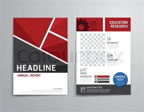 read poster template vector brochure flyer magazine cover booklet poster
