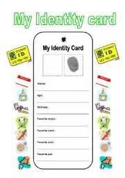 english teaching worksheets identity card