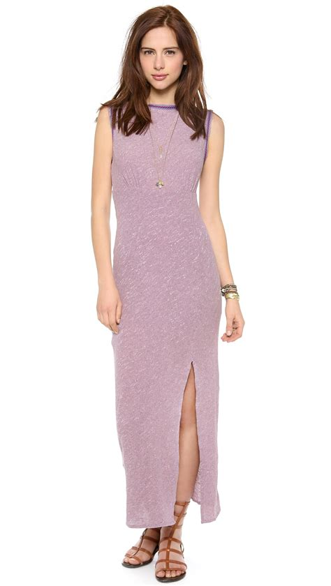 Db Maxi Sabrina Free Sabrina Maxi Dress In Purple Lavendar