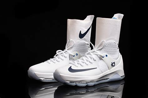 kd high top basketball shoes mens nike kd 8 elite ultra high top shoes white midnight