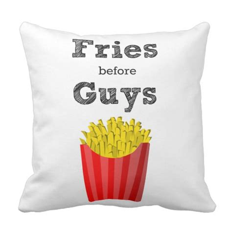 Guys Pillows by Fries Before Guys Throw Pillow Zazzle