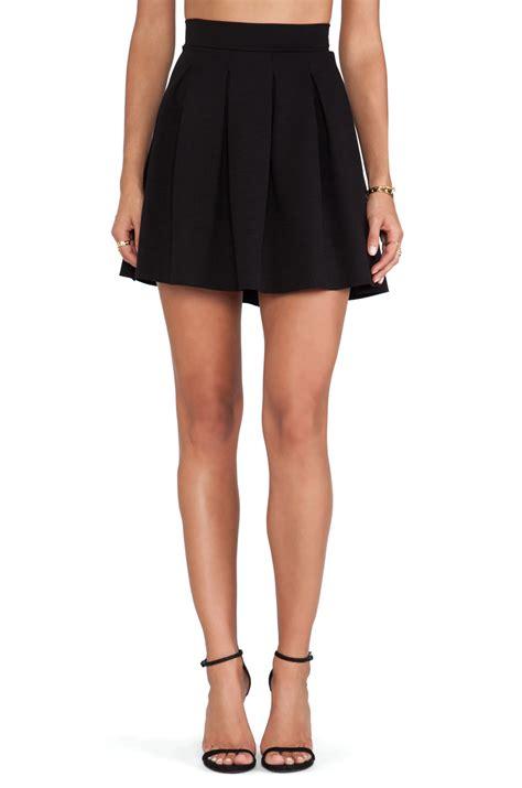 Skirt Black 1 dolan pleated skater skirt in black lyst