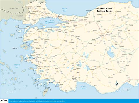 printable map of istanbul turkey printable travel maps of istanbul the turkish coast moon