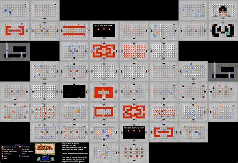 legend of zelda maps nes cheats the legend of zelda level 09 quest 2 map png