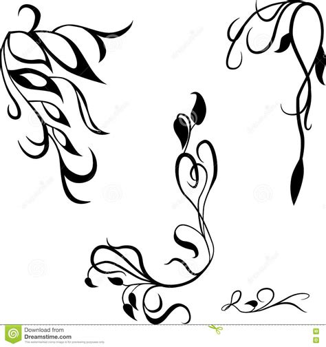 vector decorative design elements page decor calligraphic design elements page decor cartoon vector