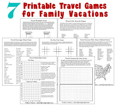 printable car games for adults printable mother s home