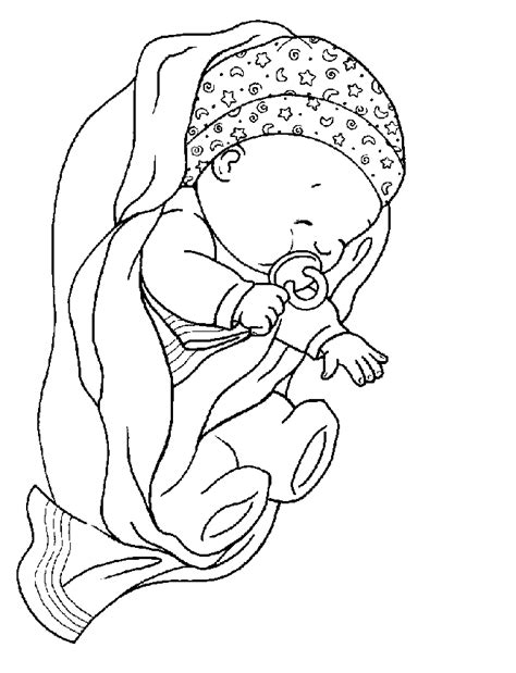 coloring page baby sleeping baby sleeping coloring pages coloringstar