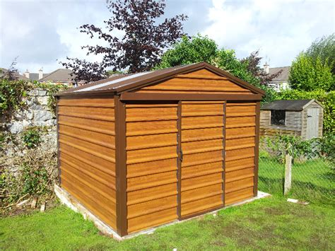 Timberland Sheds Timber Effect Pvc Steel Sheds Woodgrain Effect Sheds