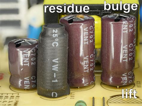 what causes bulging capacitors spotting bad capacitors robot room