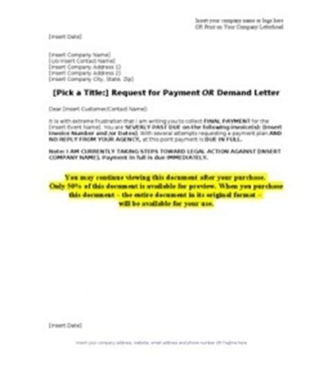 Demand Letter Unpaid Debt Attempt Collection Letter A Demand Letter Represents The Last Attempt Towards