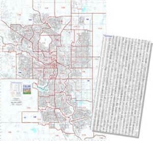 calgary postal code fsa wallmap extended