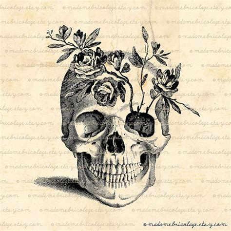 Flower Skull pretty sure this is my next the anatomical