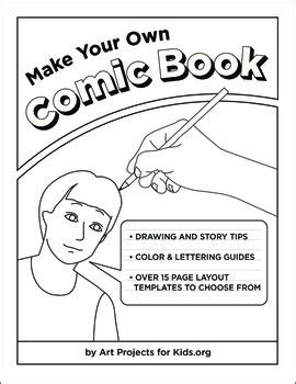 make your own comic template make your own comic book by projects for tpt