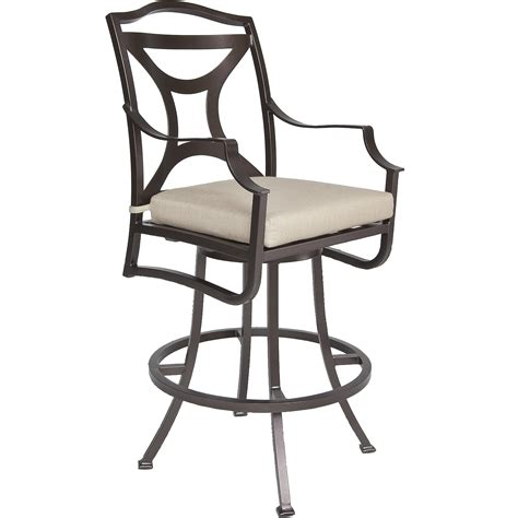outdoor swivel bar stools with arms madison swivel bar stool with arms hauser s patio