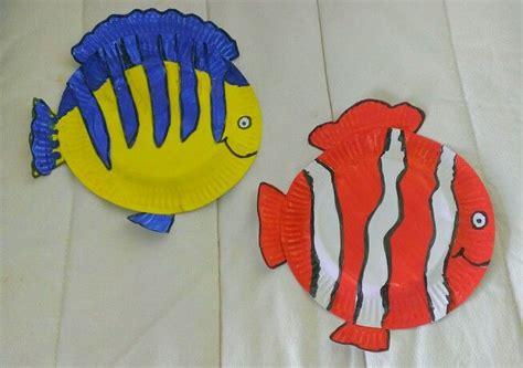 How To Make A Paper Plate Fish - painted paper plate fish paper paper