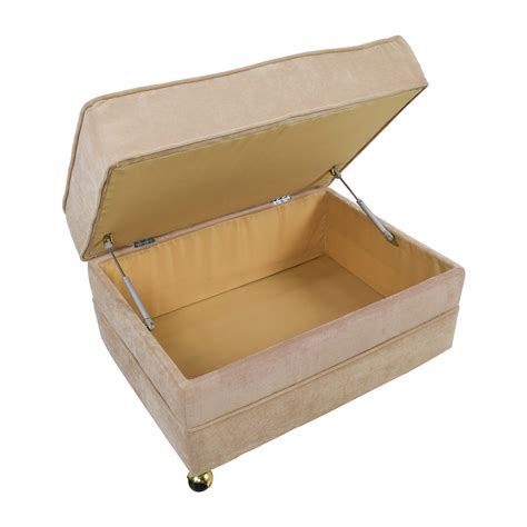 tan storage ottoman 55 off bob s furniture bob s furniture tan storage