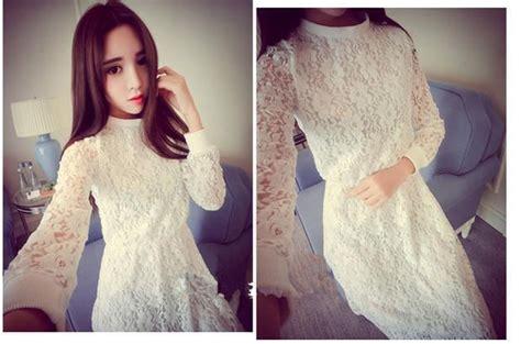 Dress Korean Renda Dress Korea Renda Putih Cantik 2016 Jual Model Terbaru