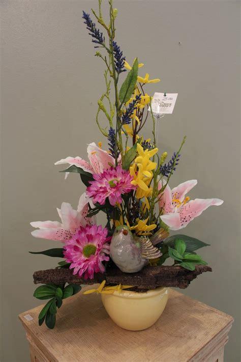 spring flower arrangements colorful spring silk flower arrangement floral