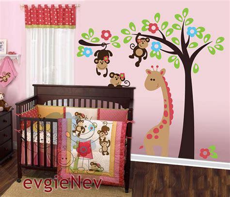 Monkey Wall Decor For Nursery Monkeys Wall Decal Nursery Wall Decal Baby Nursery Decals