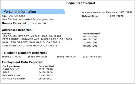 And Other Personal Information On This Part by What S Included In Your Credit Report When Does It Get