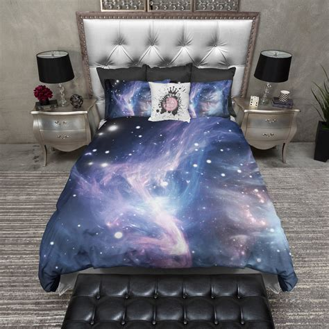 blue purple comforter blue purple nebula galaxy bedding ink and rags