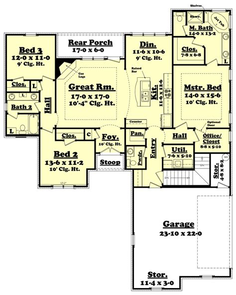 1800 square foot floor plans traditional style house plan 3 beds 2 50 baths 1800 sq