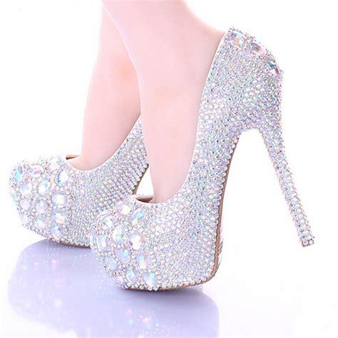Wedding Shoes 14 aliexpress buy 10 12 14cm stiletto heel wedding shoes luxury sparkly ab